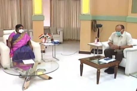 తెలంగాణలో కరోనా విజృంభణ.. గవర్నర్తో సీఎస్, హెల్త్ సెక్రటరీ భేటీ