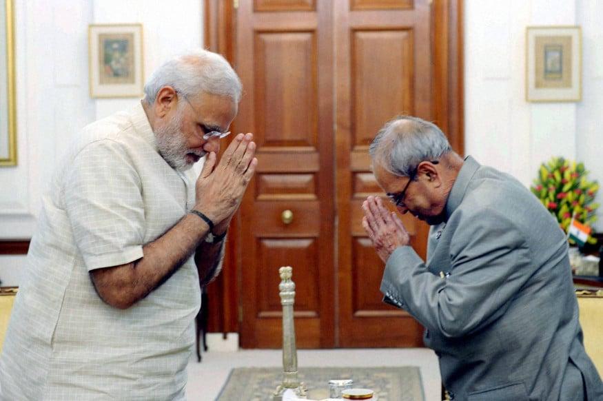 ప్రధాని నరేంద్ర మోదీ, ప్రణబ్ ముఖర్జీ