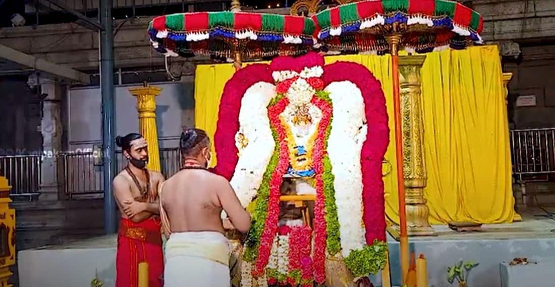 బ్రహ్మోత్సవాల్లో భాగంగా మూషిక వాహనంపై కాణిపాకం వరసిద్ధి వినాయక స్వామి