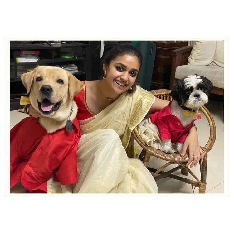 కీర్తి సురేష్ ఓనమ్ సెలెబ్రేషన్స్... మైమరిపిస్తోన్న మలయాళీ కుట్టి అందాలు.. Photo : Twitter