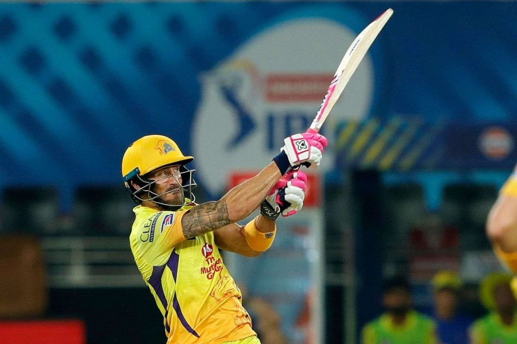 Rank: 4 | Player: F. d. Plessis | Team: Chennai Super Kings | Matches: 10 | Runs: 375| Strike Rate: 141.50(Image: IPLT20.com)