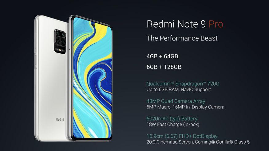 3. Redmi Note 9 Pro: రెడ్మీ నోట్ 9 ప్రో 4జీబీ+64జీబీ వేరియంట్ అసలు ధర రూ.16,999 కాగా ఆఫర్ ధర రూ.12,999. డిస్కౌంట్ రూ.4,000.