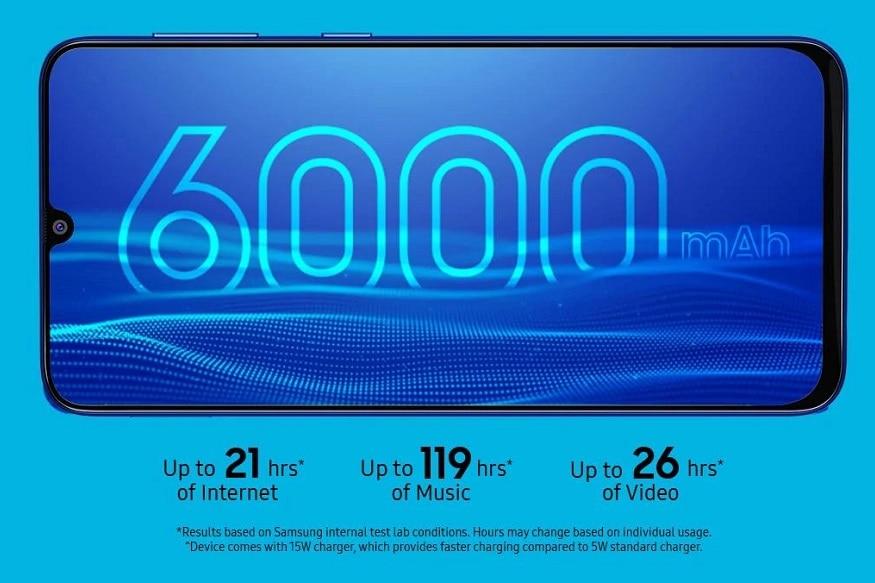 6. సాంసంగ్ గెలాక్సీ ఎం31 ప్రైమ్ బ్యాటరీ 6,000ఎంఏహెచ్. 15 వాట్ ఫాస్ట్ ఛార్జింగ్ సపోర్ట్ చేస్తుంది. (image: Samsung India)