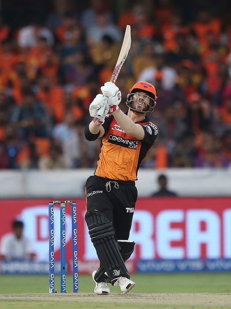 Rank: 5 | Player: David Warner | Team: Sunrisers Hyderabad | Matches: 8 | Runs: 284 | Strike Rate: 125.00 (Image: AP Photo)