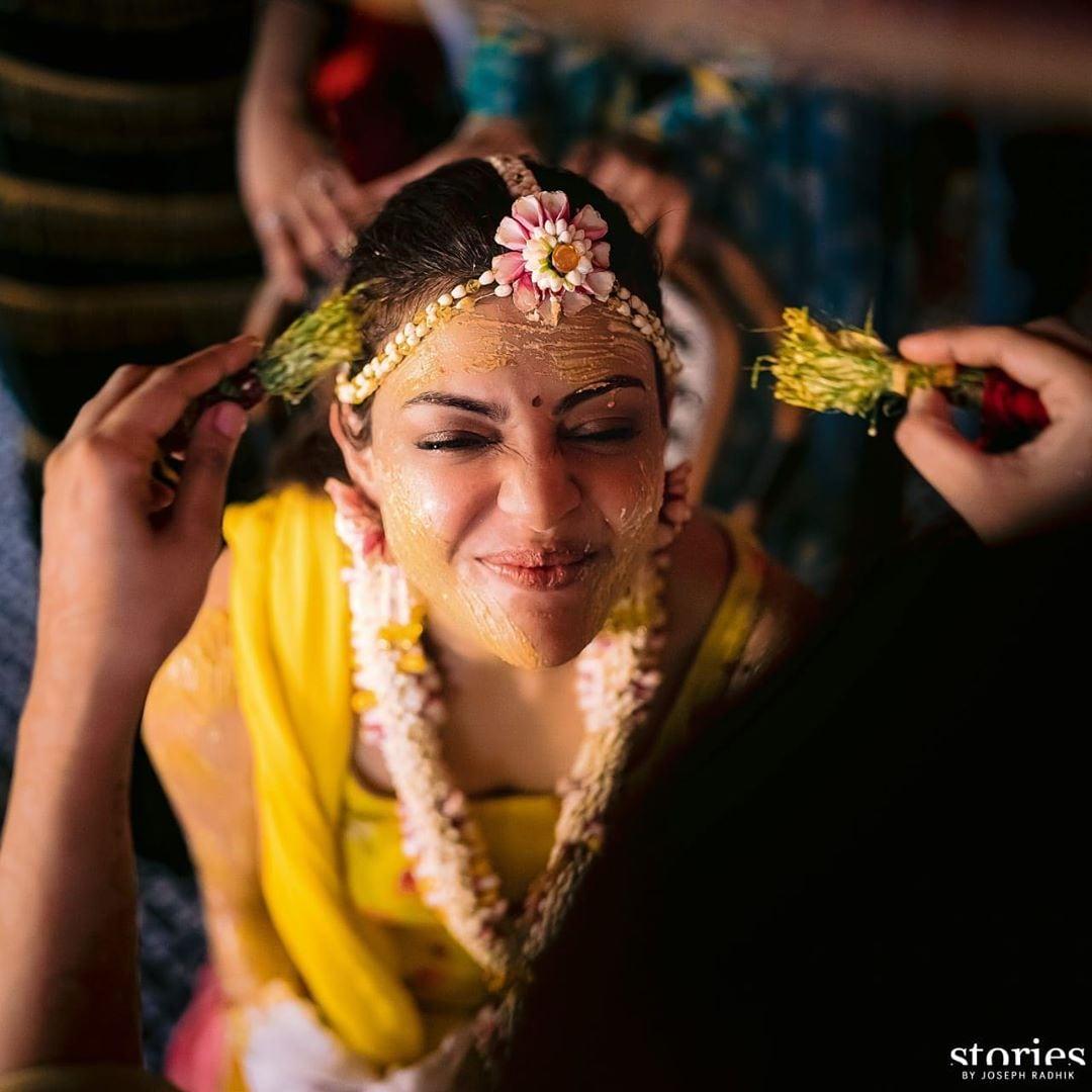కాజల్ అగర్వాల్ హల్దీ సెరమొనీ పిక్స్.. Photo : Instagram
