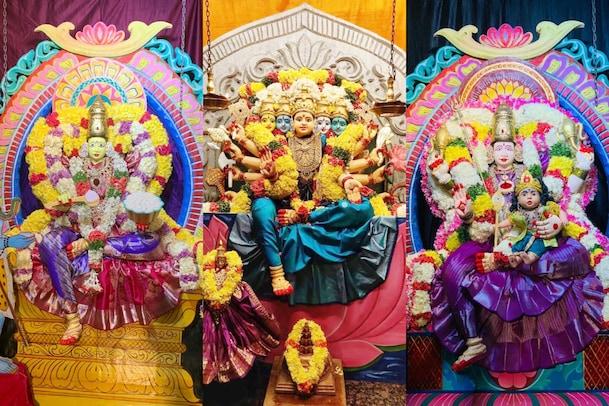Khammam: వాసవీ కన్యకాపరమేశ్వరి ఆలయంలో వైభవంగా దసరా మహోత్సవాలు... దృశ్యాల్లో