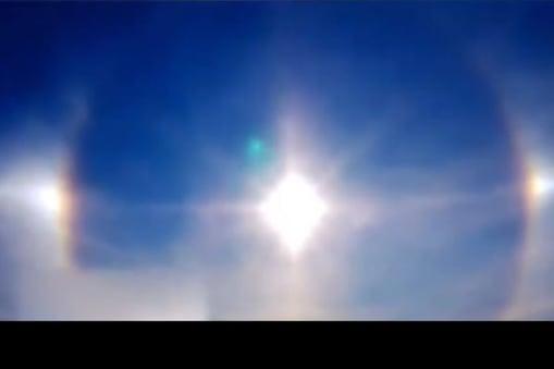 Three Suns: ఒకేసారి మూడు సూర్యుళ్లు.. ఆకాశంలో అరుదైన దృశ్యం.. వైరల్ వీడియో