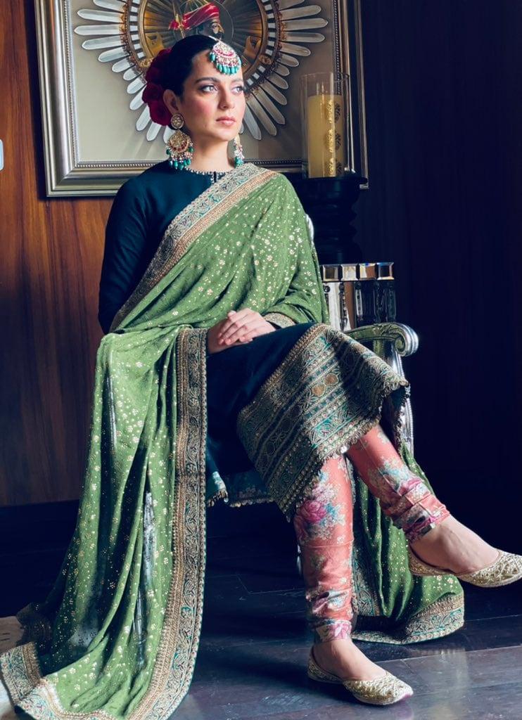 సోదరుడు అక్షత్ పెళ్లిలో మెరిసిన పోయిన కంగనా రనౌత్ (Twitter/Photo)