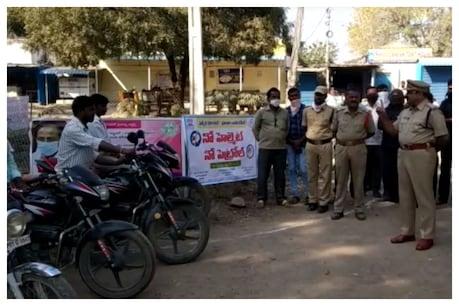 No helmet- No Petrol: నో హెల్మెట్ – నో పెట్రోల్.. ఆదిలాబాద్ లో కొత్త రూల్..