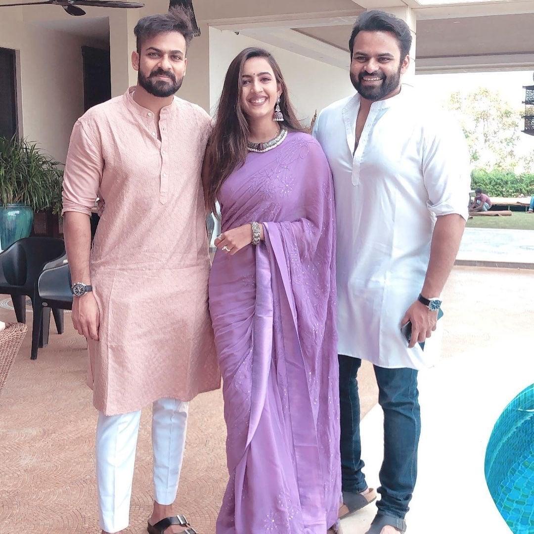 బావలు సాయి ధరమ్ తేజ్, వైష్ణవ్ తేజ్లతో నిహారిక కొణిదెల (Instagram/Photo)