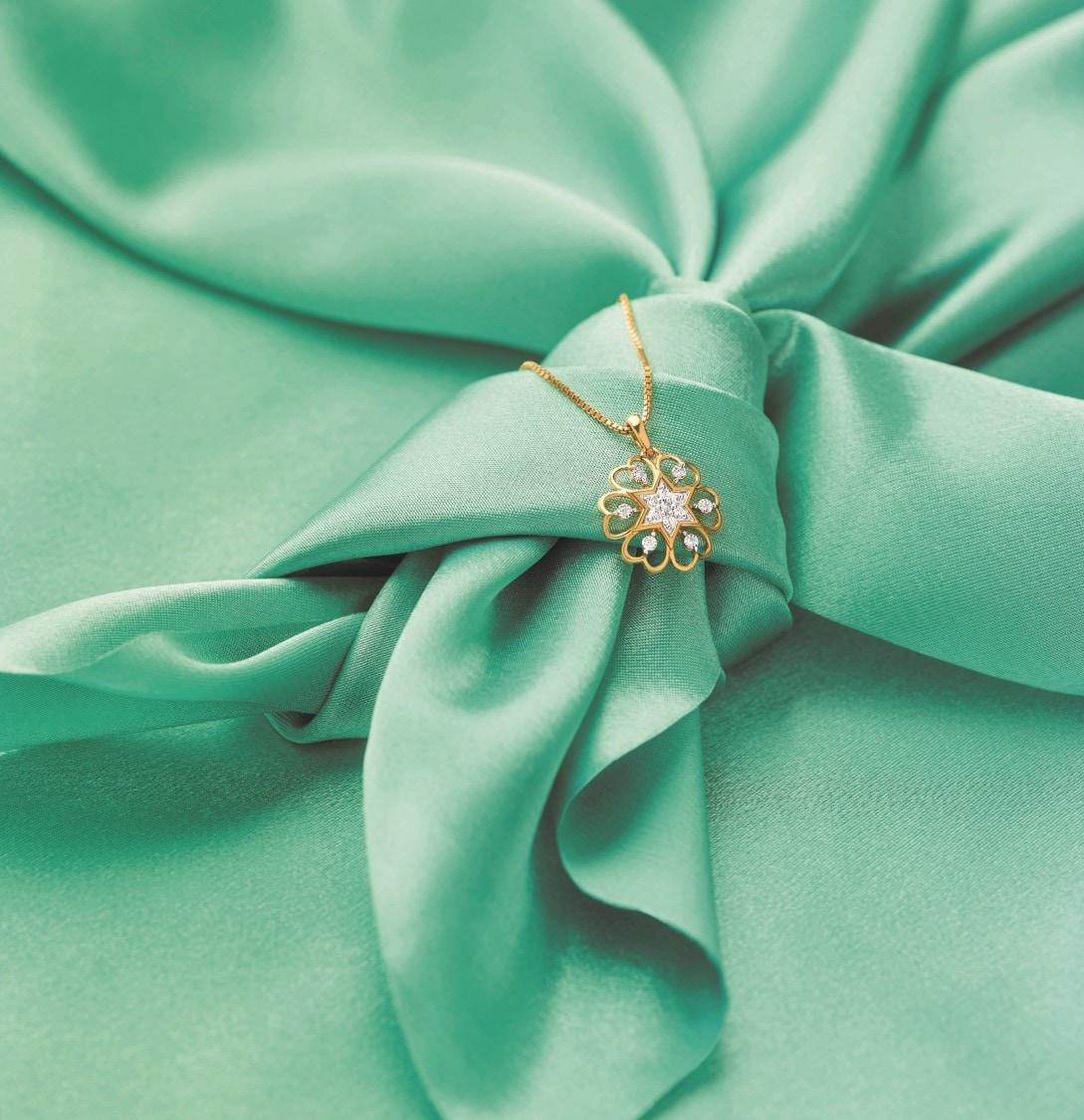 ఇవి బంగారంతో పాటు డైమండ్స్ తో చూడడానికి కనుల విందుగా ఉండేలా తయారు చేశారు.(Reliance Jewels Valentine's Day collection)