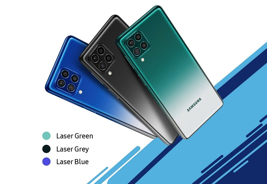 Samsung Galaxy F62: సాంసంగ్ గెలాక్సీ ఎఫ్62 స్మార్ట్ఫోన్లో 64 మెగాపిక్సెల్ ప్రైమరీ సెన్సార్ + 12 మెగాపిక్సెల్ అల్ట్రావైడ్ సెన్సార్ + 5 మెగాపిక్సెల్ డెప్త్ సెన్సార్ + 5 మెగాపిక్సెల్ మ్యాక్రో లెన్స్ రియర్ కెమెరా ఉండగా, 32 మెగాపిక్సెల్ ఫ్రంట్ కెమెరా ఉంది. రేడియంట్ గ్రీన్, రేడియంట్ బ్లూ, రేడియంట్ గ్రే కలర్స్లో కొనొచ్చు.