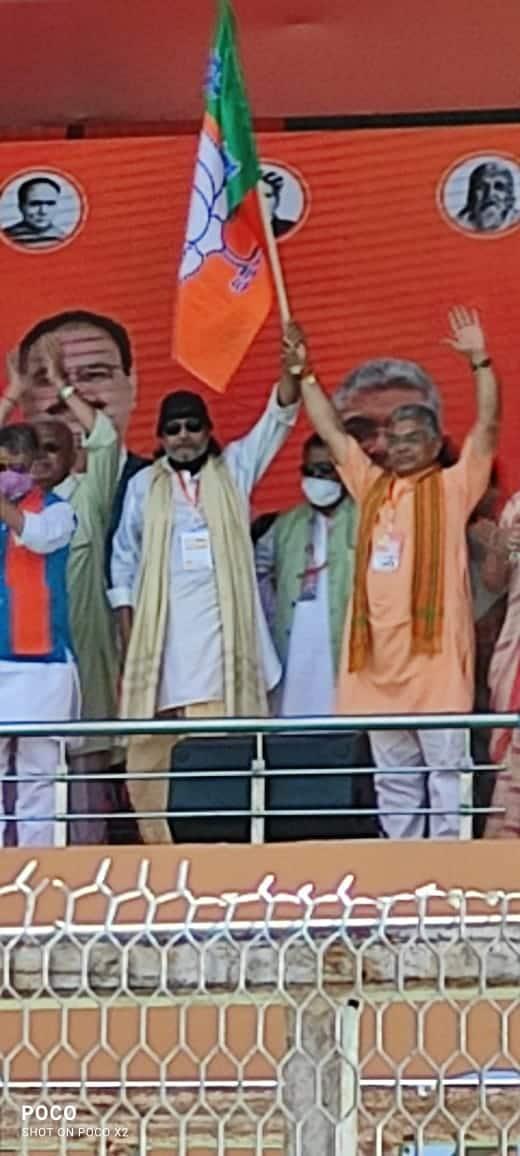 BJPలో చేరిన మిథున్ చక్రవర్తి (Mithun Chakraborty joins BJP)