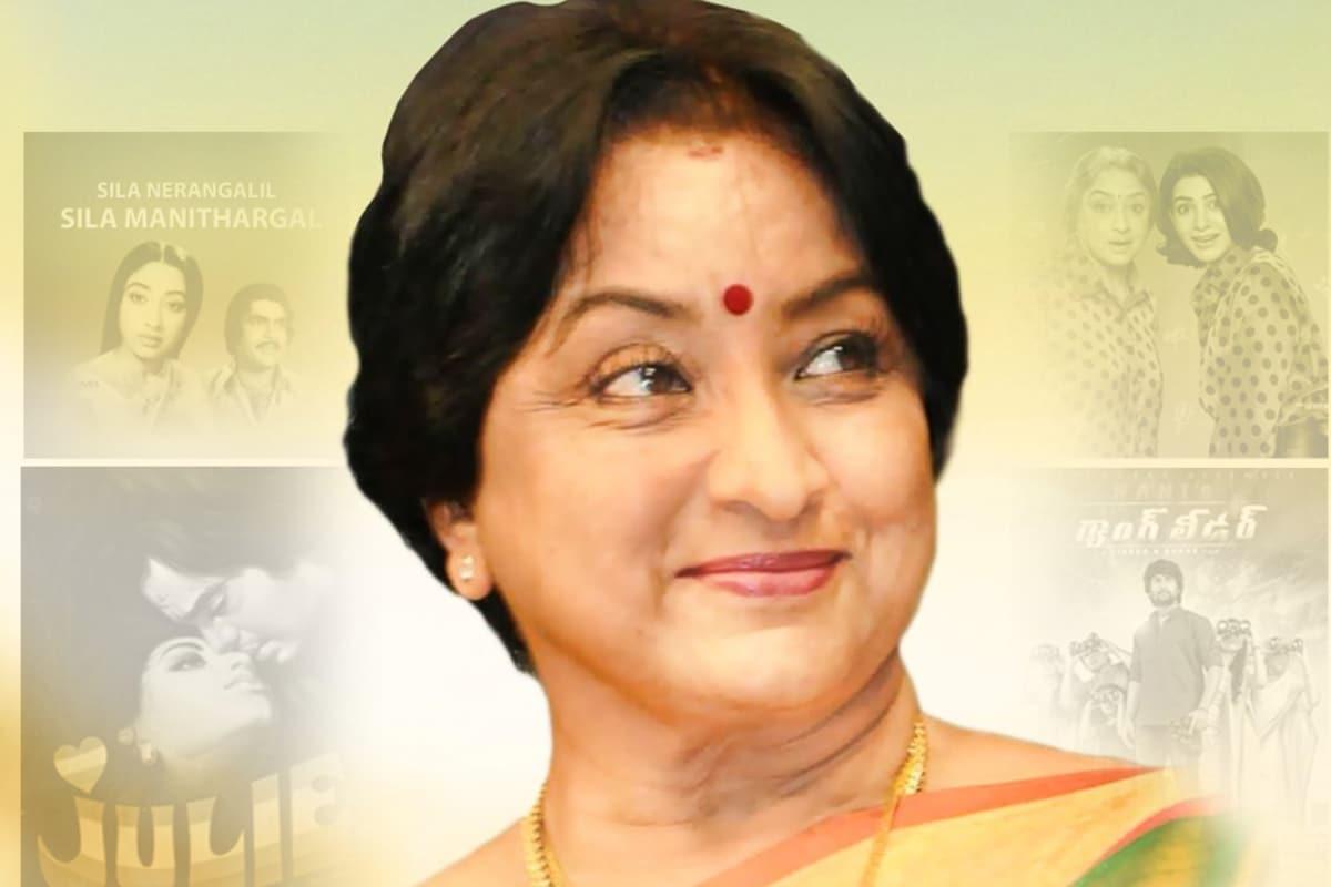 24వ జాతీయ చలన చిత్ర అవార్డుల్లో భాగంగా 1976 యేడాదికి గాను 'Sila Nerangalil Sila Manithargal' అనే తమిళ సినిమాలోని నటకు జాతీయ ఉత్తమ నటి అవార్డు అందుకున్న లక్ష్మి. (Twitter/Photo)