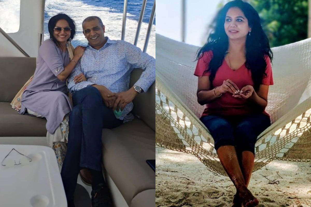 Singer Sunitha : భర్త రామ్ వీరపనేనితో సునీత Instagram/Sunitha/Photos)