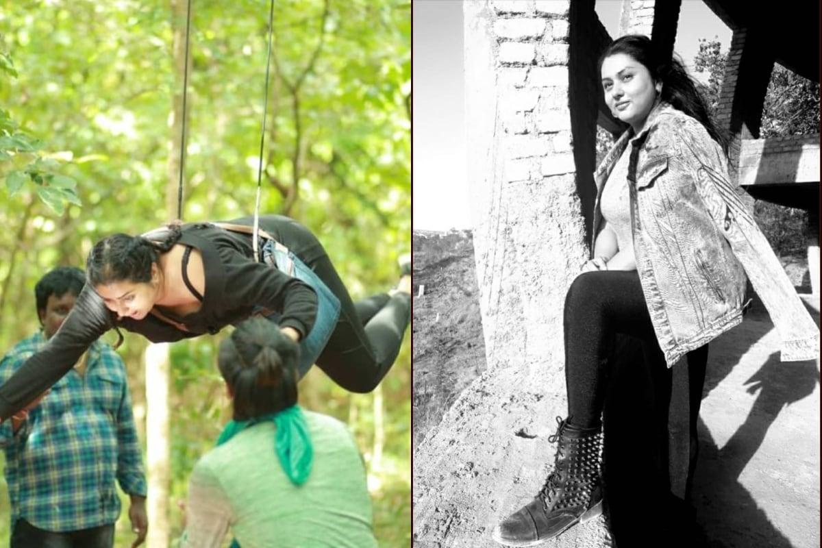 గాల్లో తేలిపోతున్న నమిత (Instagram/Photos)