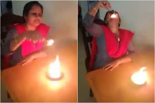 Viral video: ఆమె నిప్పురవ్వలు తింటుంది.... వీడియో చూసి నెటిజన్లు ఏమన్నారంటే...