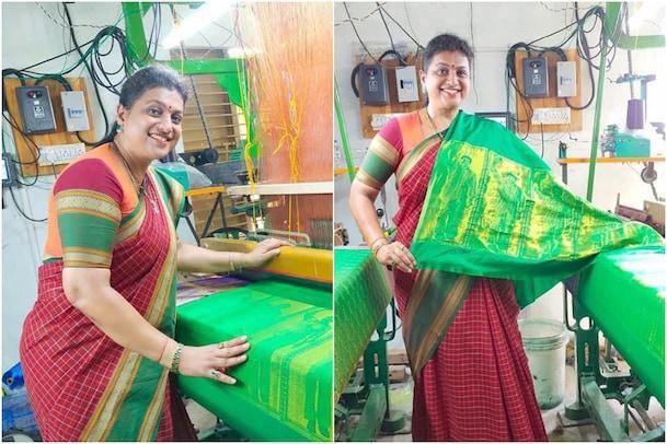 MLA Roja New Role: నేతన్న అవతారమెత్తిన ఎమ్మెల్యే రోజా.. ఆమె నేసిన చీరలో స్పెషాలిటీ ఇదే..!