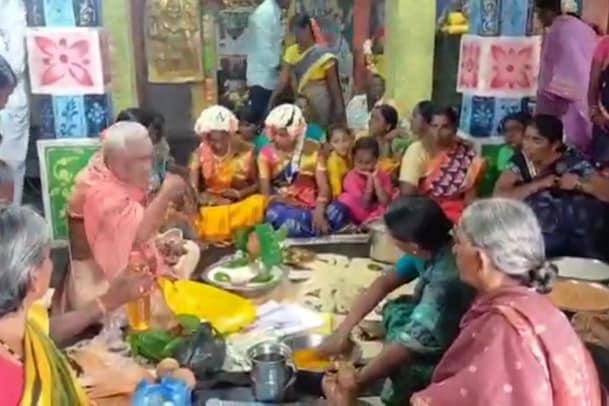 Marriage Viral: ఆంధ్రప్రదేశ్ లో వింత ఆచారం.. ఇలా పెళ్లి చేస్తే పంటలు బాగా పండుతాయంట..? వీడ