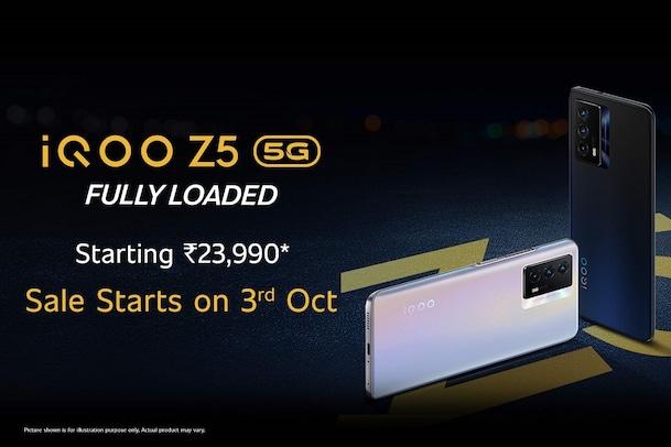 iQOO Z5: అదిరే ఫీచర్స్తో ఐకూ జెడ్5 వచ్చేసింది... తొలి సేల్లో రూ.3,000 డిస్కౌంట్