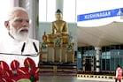 బౌద్దమే భారత ఆత్మ: Kushinagar Airport ప్రారంభోత్సవంలో PM Modi -6దేశాల భిక్షవుల రాక -photos